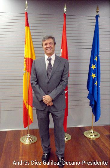 Andrés Díez, decano del Colegio Oficial de Ingeniería Geomática y Topográfica COIGT