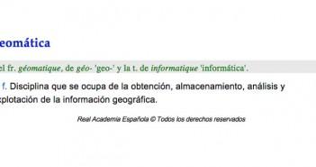 geomática en RAE digital