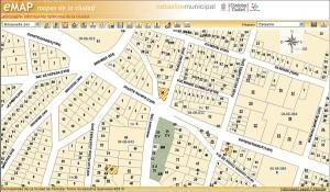 E-map, mapa catastral de la ciudad de Córdoba