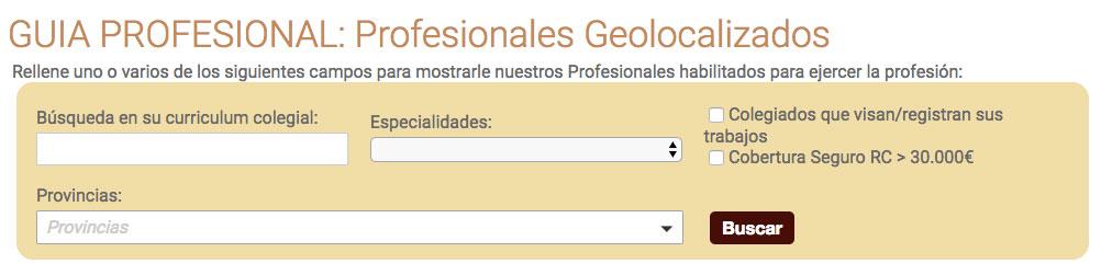 Guía de profesionales del Colegio Oficial de Ingeniería Geomática y Topográfica COIGT