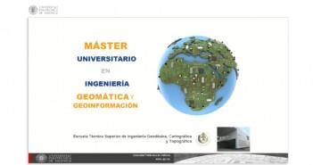 Máster en Geomática y Geoinformación de la UPV